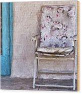 Tucson Front Porch Painterly Effect Wood Print