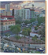 Tucson Streetcar Sunset Wood Print