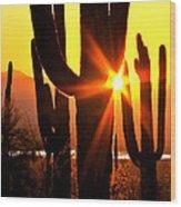 Tucson Sunset Wood Print
