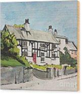Tudor Cottage Cheshire England Wood Print