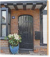 Tudor Cottage Doorway Wood Print