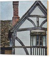 Tudor House Wood Print