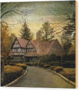 Tudor Road Wood Print