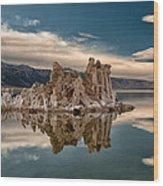 Tufa Reflections Wood Print