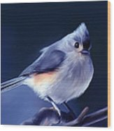 Tufty The Titmouse Wood Print
