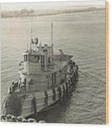 Tug Boat In Puerto Rico 1956 Wood Print