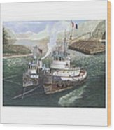 Gale Warning Safe Harbor Wood Print