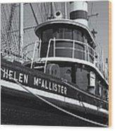 Tugboat Helen Mcallister II Wood Print