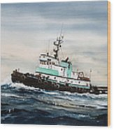 Tugboat Island Champion Wood Print