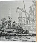 Tugboat Martha Foss Wood Print