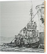 Tugboat Richard Foss Wood Print