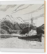 Skagit Chief Tugboat Wood Print