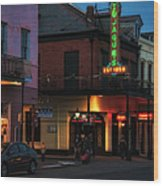 Tujagues At Night In New Orleans Wood Print