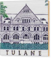 Tulane Wood Print
