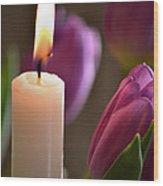 Tulight Wood Print