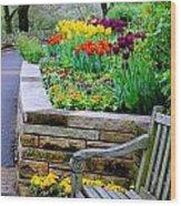 Tulip Bench Wood Print