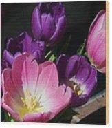 Tulip Bouquet 1 Wood Print by Marcus Dagan