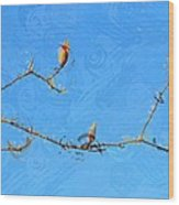 Tulip Branches Wood Print