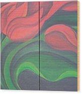 Tulip Diptych Wood Print
