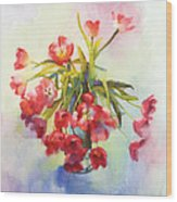 Tulip Fling Wood Print