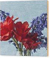 Tulip Macro 2 Wood Print