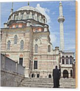 Tulip Mosque In Istanbul Wood Print
