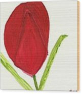 Tulip Of The Heart Wood Print