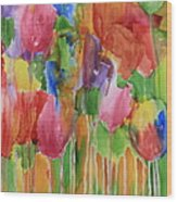 Tulip Palooza Wood Print