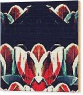 Tulip Panorama Wood Print