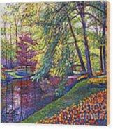 Tulip Park Wood Print