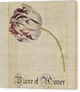 Tulip - Vivre Et Aimer S02t03tr Wood Print