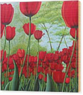 Tulipanes  Wood Print
