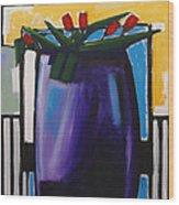 Tulipani T15- Oil On Canvas100x100 Cm Wood Print