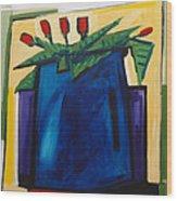 Tulipani T22 -oil On Canvas 100x100 Cm Wood Print