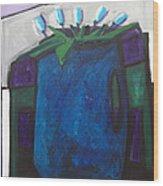 Tulipani T8- Oil On Canvas100x100 Cm Wood Print