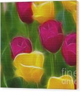 Tulips-6768-fractal Wood Print