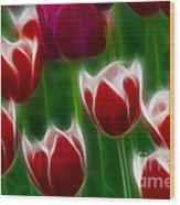 Tulips-6823-fractal Wood Print