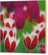 Tulips-6848-fractal Wood Print