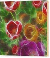 Tulips-6944-fractal Wood Print