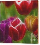 Tulips-7022-fractal Wood Print