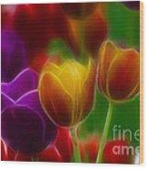 Tulips-7060-fractal Wood Print
