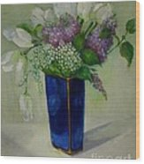 Tulips And Lilacs Wood Print