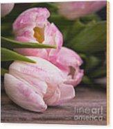 Tulips Closeup Wood Print