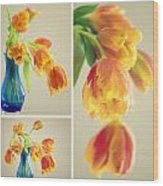 Tulips Collage Wood Print