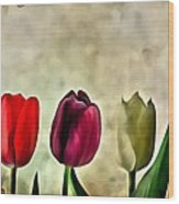 Tulips Color Wood Print