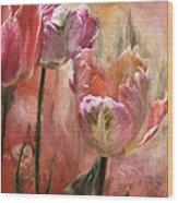 Tulips - Colors Of Love Wood Print