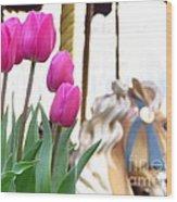 Tulips Wood Print by Ece Erduran