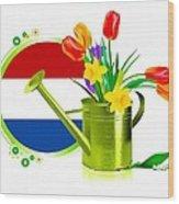 Tulips Eco Wood Print