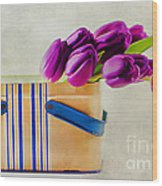 Tulips For Mom Wood Print