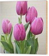 Tulips In Bloom Wood Print